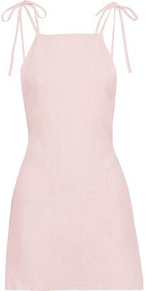 Onia Daphne Open-back Linen Mini Dress