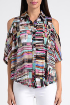 Lynn Ritchie Colorful Cold Shoulder Blouse