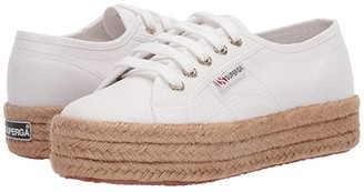 Superga 2730 Cotropew (White/Gold) Women's Lace up casual Shoes