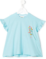 Fendi flared T-shirt - kids - Cotton/Spandex/Elastane - 2 yrs
