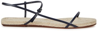The Row Bare navy leather sandals