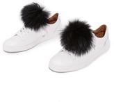 Jocelyn Shoelace Fur Pom Poms