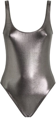 MARIE FRANCE VAN DAMME Metallic Scoop-Neck Swimsuit