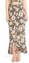 Leith Women's Flounce Floral Print Maxi Skirt