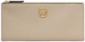 Fendi F is double zip wallet