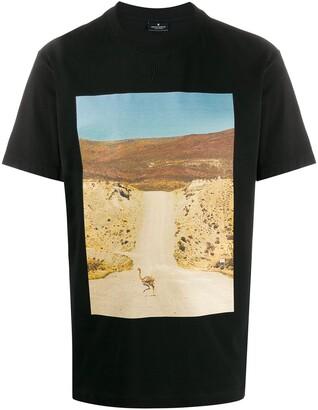 Marcelo Burlon County of Milan ostrich photograph print T-shirt