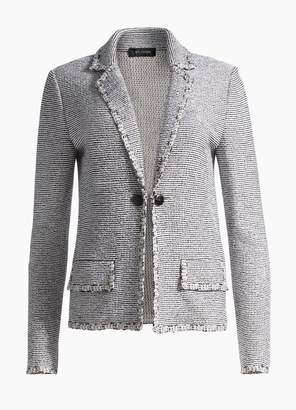 St. John Crepe Tweed Notch Collar Jacket