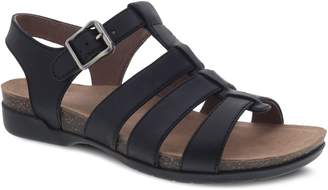 Dansko Women's Casual Leather Adjustable Sandals - Roni