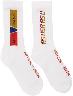 Reebok by Pyer Moss White Logo Socks