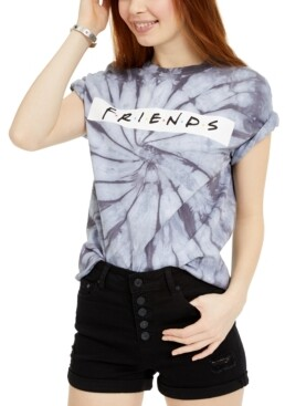 Warner Brothers Juniors' Friends Logo Printed Graphic T-Shirt