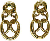 One Kings Lane Vintage 1980s Givenchy Gold Knocker Earrings - Wisteria Antiques Etc
