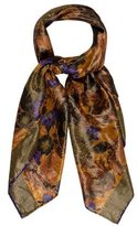Saint Laurent Metallic Floral Scarf