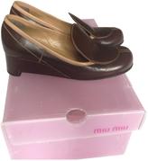 Miu Miu Brown Bicolor Shoes