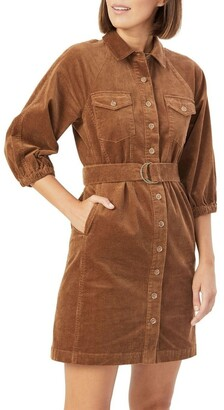 French Connection Corduroy Puff Sleeve Dress