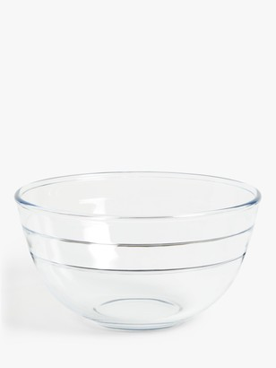 John Lewis & Partners Large Glass Mixing Bowl, Clear, 3L