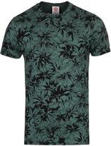 Franklin & Marshall Military Green Leaf Print T-shirt