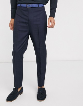 Rudie cropped tapered blue check trousers