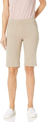 Slim Sation SLIM-SATION Women's Wide Band Pull-on Solid Walking Short