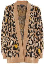 Topshop Natural leopard print cardigan