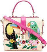 Dolce & Gabbana exotic bird print satchel - women - Silk/Cotton/Leather/Viscose - One Size