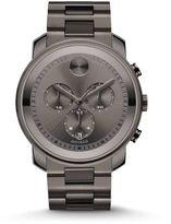 Movado Bold Gunmetal Grey IP Stainless Steel Chronograph Bracelet Watch