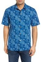 Tommy Bahama Tiles Davis Standard Fit Silk Sport Shirt
