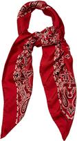Saint Laurent Bandana-print silk-twill scarf