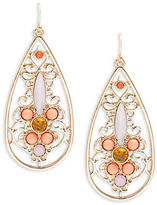 RJ Graziano Stone Accented Open Teardrop Earrings