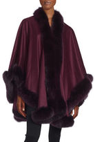 Sofia Cashmere Cashmere and Fox Fur Cape