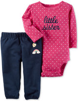 Carter's 2-Pc. Cotton Little Sister Bodysuit and Pants Set, Baby Girls (0-24 months)