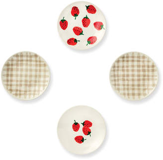 Kate Spade Strawberries Tidbit Plates, Set Of 4