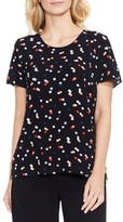 Vince Camuto Women's Multi Dot Colorblock Top