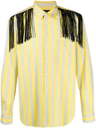 Comme des Garcons Fringed Striped Shirt