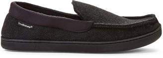 Isotoner Black Harrison Moccasin Slippers