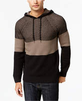 INC International Concepts Men's Colorblocked Hooded Sweater, Created for Macy's