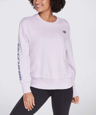 Skechers Women's Tee Shirts LIL - Lilac Logo Heritage II Crewneck Pullover - Women