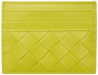 Bottega Veneta Green Intrecciato Card Holder