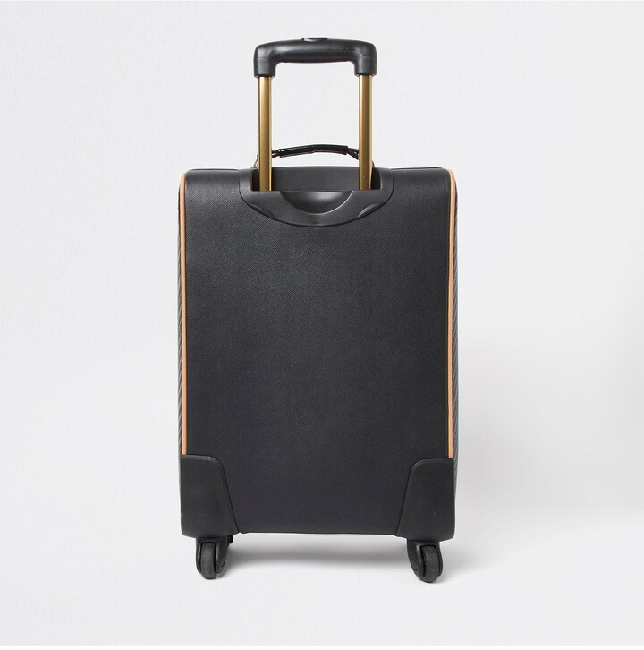 Thumbnail for your product : River Island Monogram Embossed Suitcase - Black