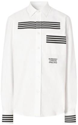 Burberry Stripe Cotton Oxford Shirt