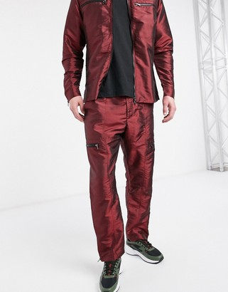 The Ragged Priest red tafetta pants