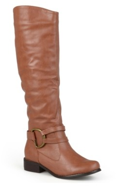 Journee Collection Charming-01 Wide Calf Riding Boot
