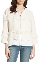 Joie Women's Jacoba Fringe Trim Jacket