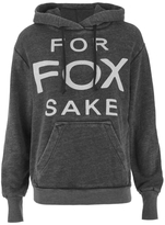 Wildfox Couture Women's Cuddles Hoodie For Fox Sake Dirty Black