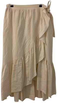 Vanessa Bruno Ecru Linen Skirt for Women