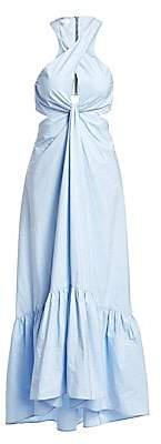 A.L.C. Women's Lansbury Cut-Out Halter Maxi Dress