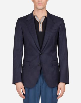 Dolce & Gabbana Taormina Jacket In Wool And Silk