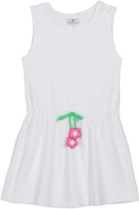 Florence Eiseman Girl's Sleeveless Flower-Drawstring Dress, Size 4-6X