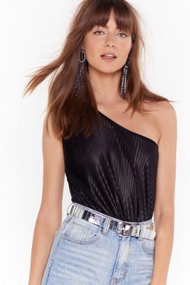 The One Nasty GalNasty Gal Womens Be Shoulder Metallic Bodysuit - Black - 4, Black