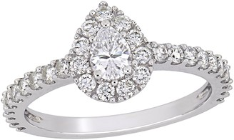 Affinity Diamond Jewelry Affinity 9/10 cttw Pear-Cut Diamond Engagement Ring, 14K