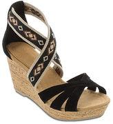Minnetonka Drew Suede and Elastic Wedge Sandals
